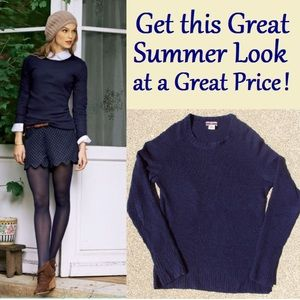 J Crew Navy Blue Cashmere Blend Sweater, pre-loved